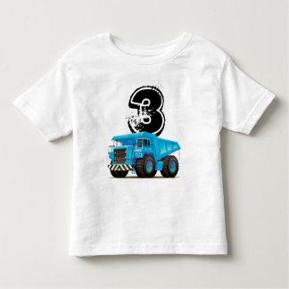 Kid's Custom Age Dumper Truck 3rd Birthday Toddler T-Shirt