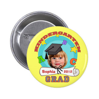 Kid's Custom Kindergarten Graduation Button