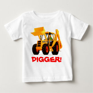 Kid's Custom Name Yellow Digger Tshirts