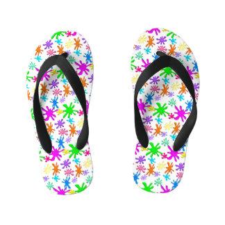 Kids Custom Paint Splash Flip Flops