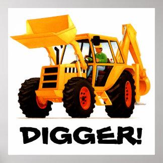 Kid's Custom Yellow Digger Posters