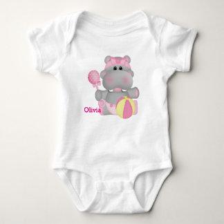 Kid's Cute Baby Hippo Baby Bodysuit
