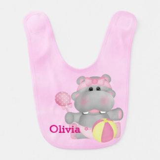 Kid's Cute Baby Hippo Bib