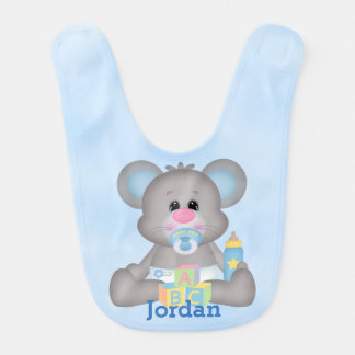 Kid's Cute Baby Mouse Bib