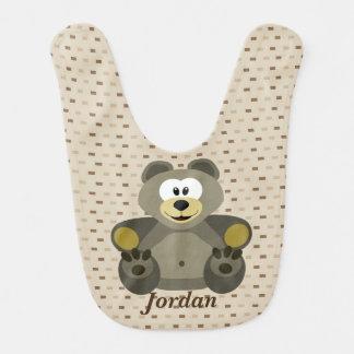 Kid's Cute Brown Teddy Bear Bib