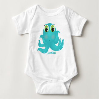 Kid's Cute Happy Octopus Baby Bodysuit