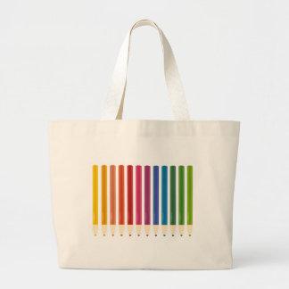 Kids cute pastels design large tote bag