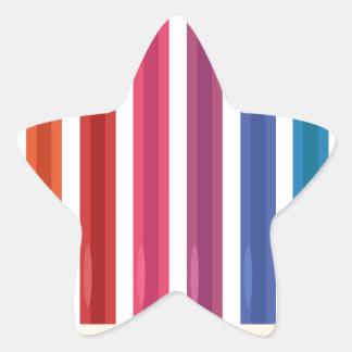 Kids cute pastels design star sticker