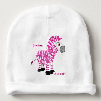 Kid's Cute Pink Baby Zebra Baby Beanie