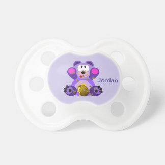 Kid's Cute Purple Teddy Bear Dummy