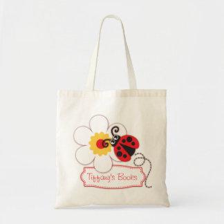 Kids cute red ladybug / ladybird library bag