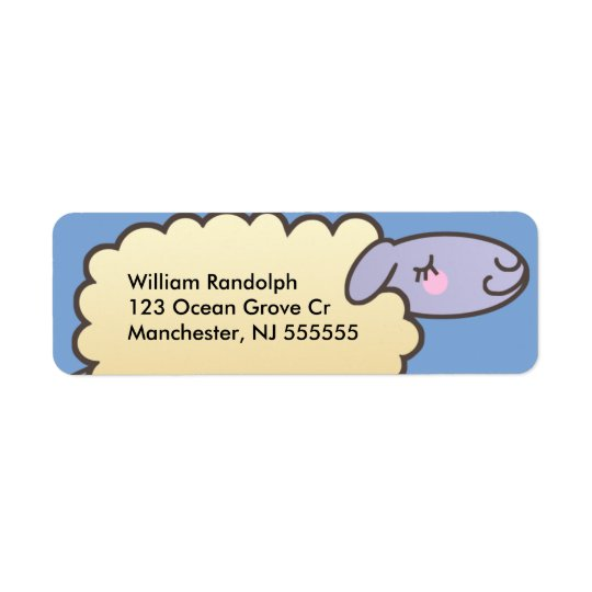 Kids Cute Sheep Return Address Labels