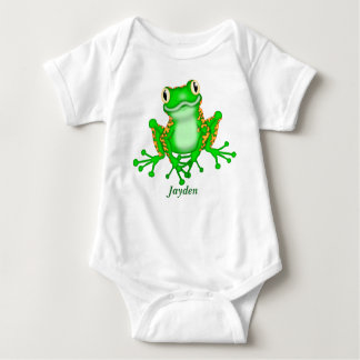 Kid's Cute Tree Frog Baby Bodysuit