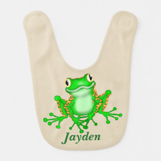 Kid's Cute Tree Frog Bib