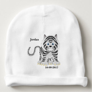 Kid's Cute White Baby Tiger Baby Beanie