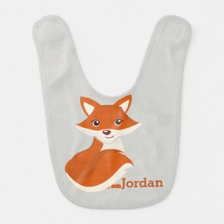 Kid's Cute Woodland Fox Bib