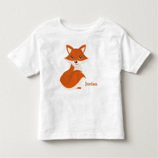 Kid's Cute Woodland Fox Toddler T-Shirt
