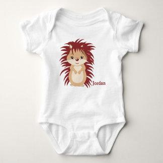 Kid's Cute Woodland Hedgehog Baby Bodysuit