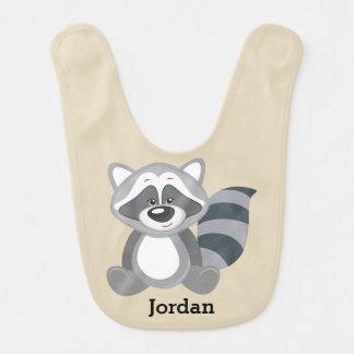 Kid's Cute Woodland Raccoon Bib