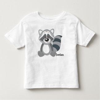Kid's Cute Woodland Raccoon Toddler T-Shirt