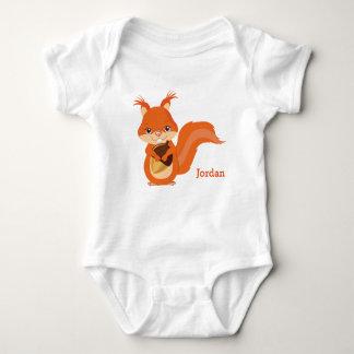 Kid's Cute Woodland Squirrel Baby Bodysuit
