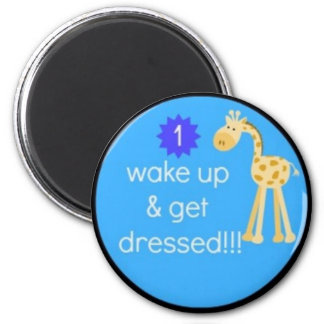 kid's daily routine chart magnet!!! 6 cm round magnet