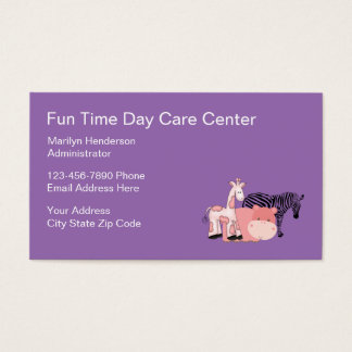 Kids Daycare Businesscards Business Card