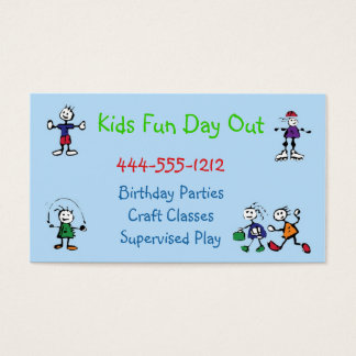 Kids Daycare Party Place Business Card custom