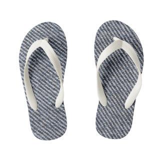 Kids denim printed designer Flip Flops Thongs