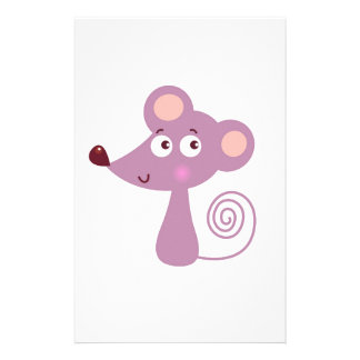 Kids design / Mouse on white Stationery