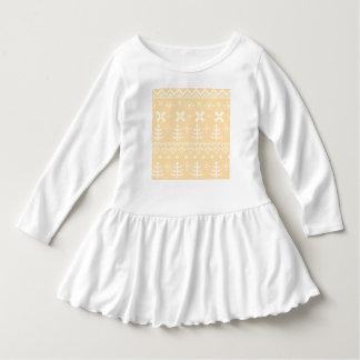 Kids designers Dress : white peach