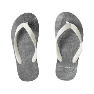 Kids designers shoes : Grey concrete Thongs