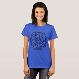 KIDS designers t-shirt blue with mandala art