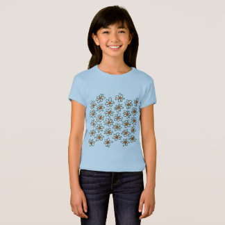 Kids designers tshirt : Spring flowers