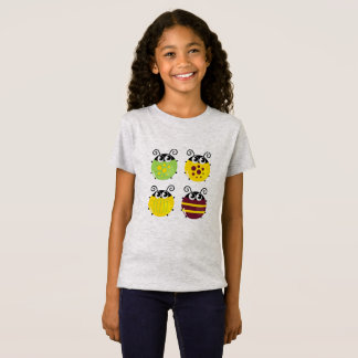Kids designers tshirt with bugs