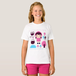 Kids designers tshirt with Fairytale icons