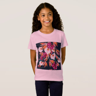 Kids designers tshirt with Flowers