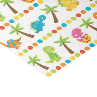 kids dino prehistoric party tissue paper