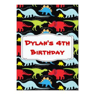 Kids Dinosaur Birthday Party Invitations