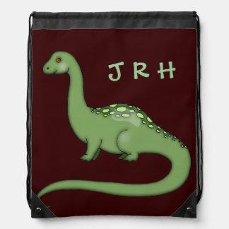 Kids Dinosaur Brontosaurus Drawstring Bags