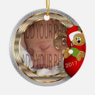 Kid's Diy Christmas Photo Ceramic Ornament