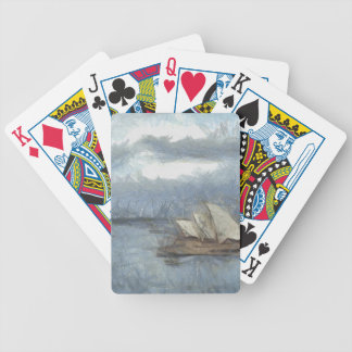 Kids drawing of Sydney Opera House Bicycle Poker Deck