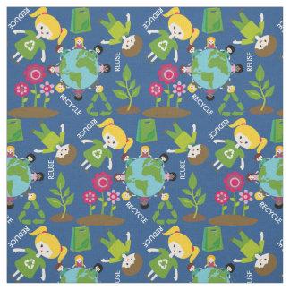 Kids Earth Day Fabric