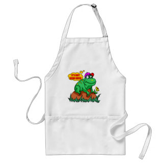 Kids Easy Being Green Frog Apron