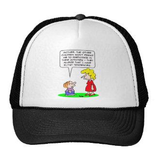 kids elitist tendencies play mesh hat