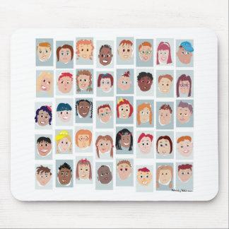 Kid's faces mousepads
