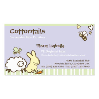 Kids & Family Card with Cute Animals Business Cards