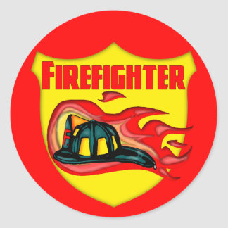 Kids Fire Fighter T Shirts and Gifts Classic Round Sticker