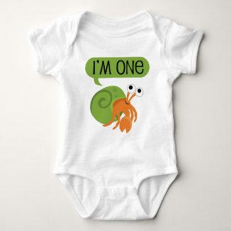 Kids First Birthday Hermit Crab Baby Bodysuit