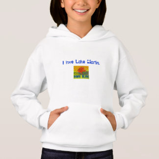 "Kid's Fish Hoodie Sweatshirt ""Lake Martin"" Alabama"